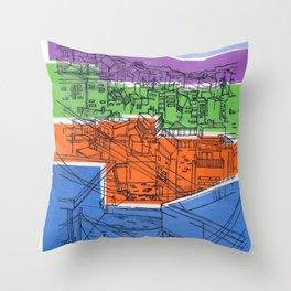 Seoul City #1 Throw Pillow