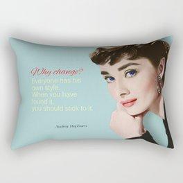 Movie star art - Audrey Hepburn Rectangular Pillow