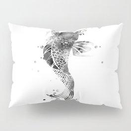 Koi Fish Black And White Pillow Sham