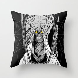Forest Ghost Throw Pillow