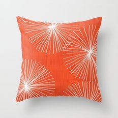 Dandelions in Red by Friztin Throw Pillow