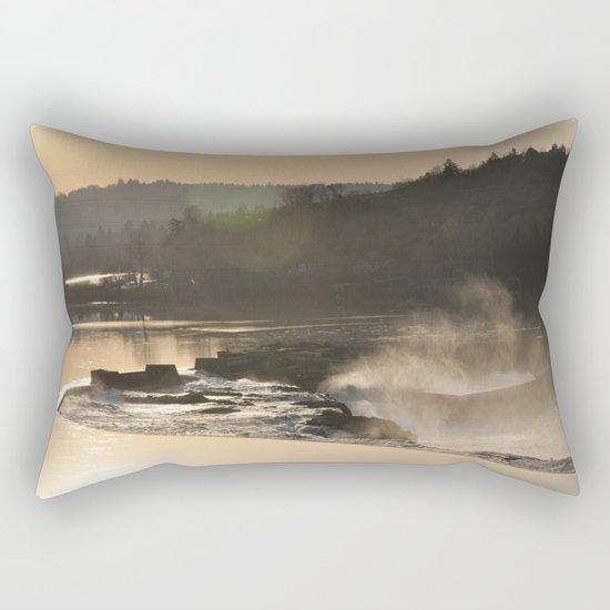SUNSET OVER WILLAMETTE FALLS Rectangular Pillow