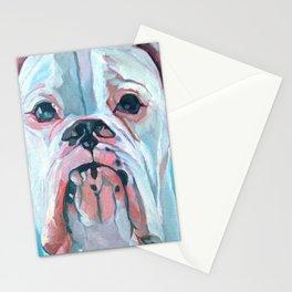 Otis the White Boxer Stationery Cards