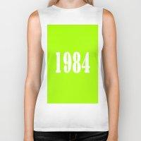 1984 Biker Tanks featuring 1984 by TheWank