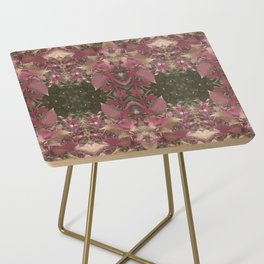 Red Shiso Warm Tones Pattern Side Table