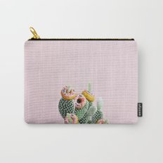 Donut Cactus In Bloom Carry-All Pouch