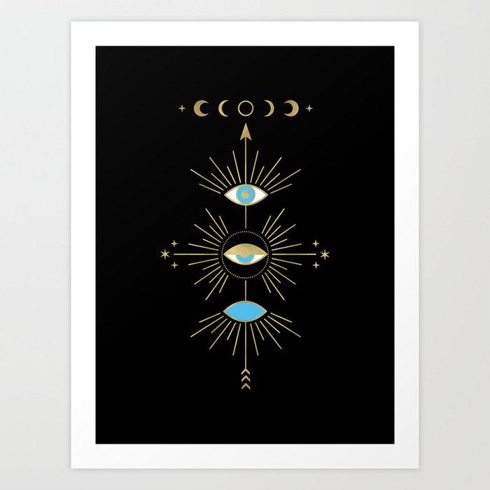 Evil Eye Totem Art Print by cafelab