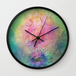Psychedelic Trippy Ganesh Wall Clock