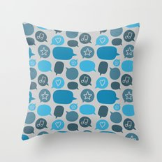 Bubbles Throw Pillow