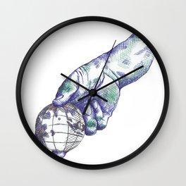 Pitching Globe Wall Clock