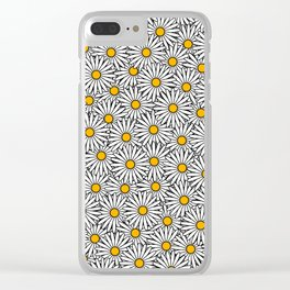 Daisy flowers print (11-2-19) Clear iPhone Case