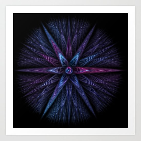 Beauty Blue Art Print