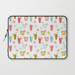 Happy Hour - Drinks cocktails art design illustration modern bright happy bar tiki hawaii island  Laptop Sleeve