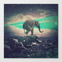 walk the moon Canvas Prints featuring Moon walk by nois7