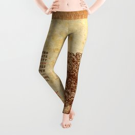 Strength Beautiful Earth Rustic Birds Leggings