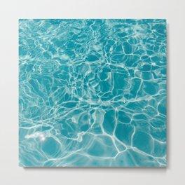 Blue Summer Water Metal Print