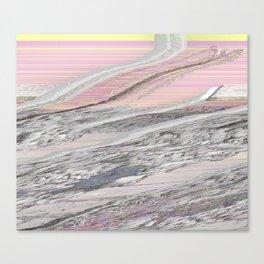 Butter & Candy Glitch Canvas Print
