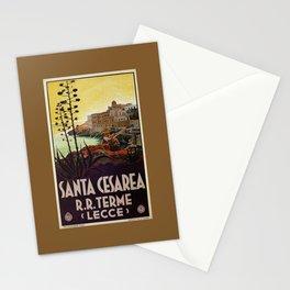 Vintage Italian travel Santa Cesarea Terme Lecce Stationery Cards