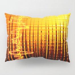 Sound wave orange Pillow Sham