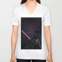 darth vader V-neck T-shirts featuring Darth Vader  by Rebecca Bear