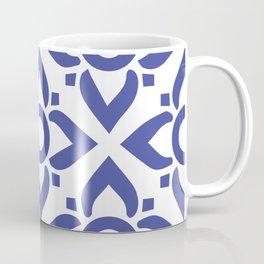 illustration decorative bluish seamless vector pattern floral motifs Coffee Mug