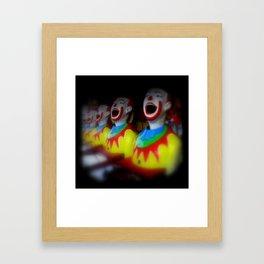 Laughing Clowns Framed Art Print