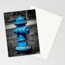 Firefightn' Blues Selective Color Fire Hydrant Fire Plug Stationery Cards