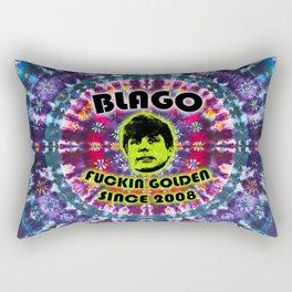 Rod Blagojevich: Fuckin Golden Since 2008 - Tie Dye Shambhala Rectangular Pillow
