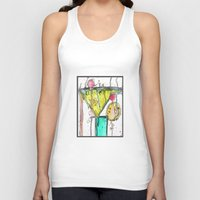 martini Tank Tops featuring Dirty Martini by Ingrid Padilla