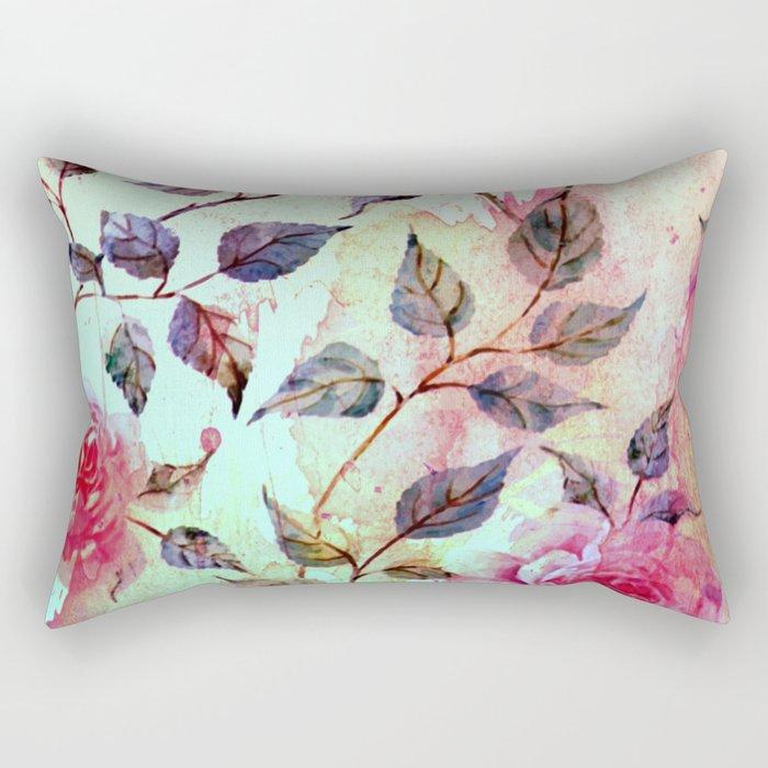 roses and splash 2 Rectangular Pillow