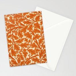 William Morris Oak Leaves, Rust Orange & Cream Stationery Cards