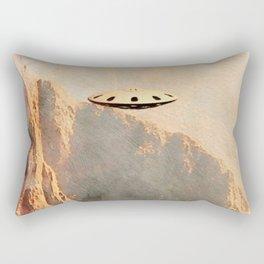 Flying Saucer - Machu Picchu Rectangular Pillow