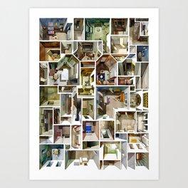 Rooms Mashup Art Print