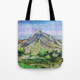 The view from Mashuk mountain (Pyatigorsk). Ladscape be pastel Tote Bag