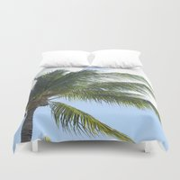 palm tree Duvet Covers featuring Palm Tree by Tasha Saussey