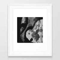reassurance Framed Art Prints featuring Ink III by Magdalena Hristova