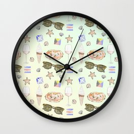Summer foods Wall Clock