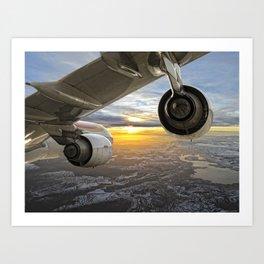 Airbus A-340 Art Print