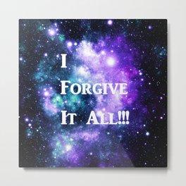 Teal Violet Galaxy : I Forgive It All Metal Print