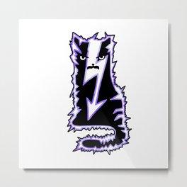 Tesla Cat – Electrical Engineering Metal Print