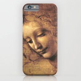 Head of a Woman - Leonardo Da Vinci iPhone Case