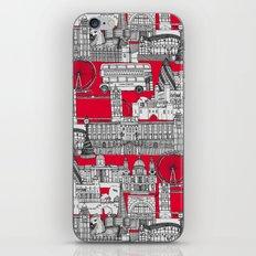 London toile red iPhone & iPod Skin