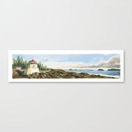 Amphitrite Point Lighthouse, Ucluelt, Vancouver Island, BC Canvas Print