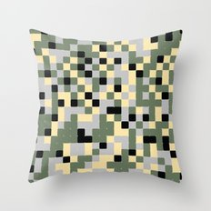 Pixelated Camo Pattern Throw Pillow