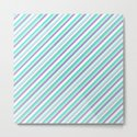 Deep Sea Green Turquoise Violet Inclined Stripes by textures