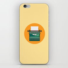 Typewriter Icon iPhone Skin