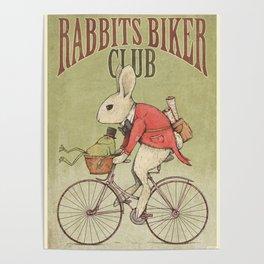 Rabbits Biker Club Poster