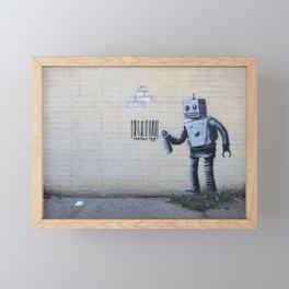 Banksy Robot (Coney Island, NYC) Framed Mini Art Print