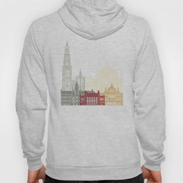 Antwerp skyline poster Hoody