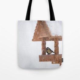 Parus Major bird Tote Bag